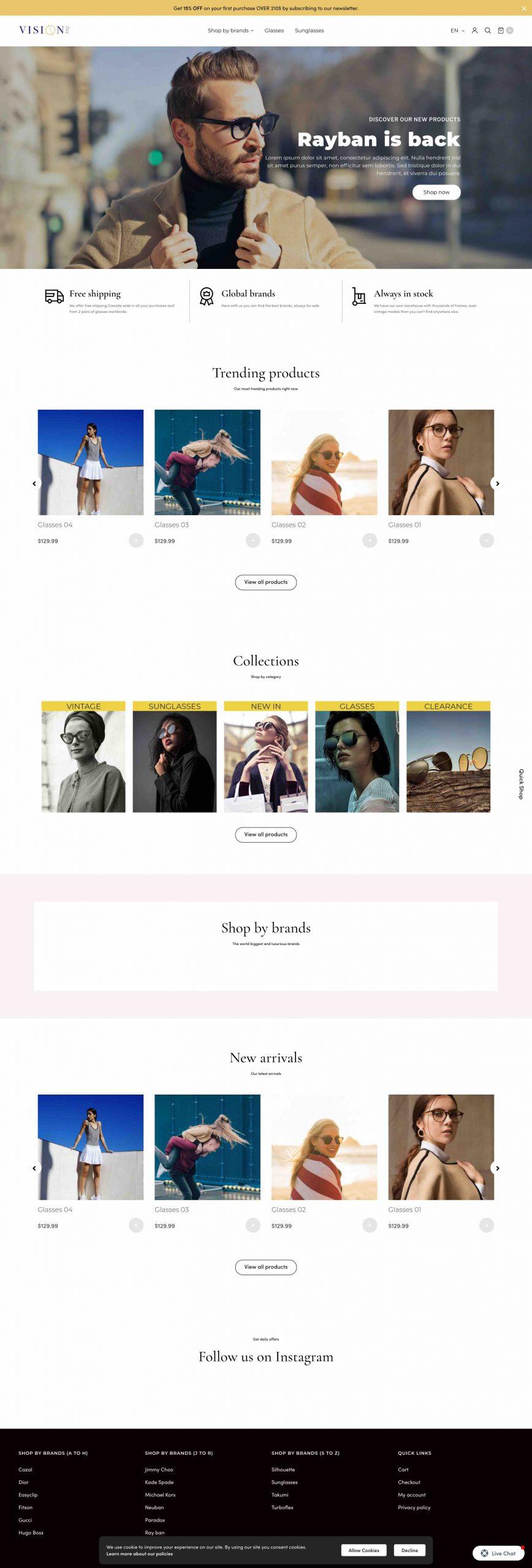 Vision 770 Website